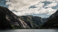 Epic timelapse, landscape, clouds, mountains, fjords in norway Stock Footage
