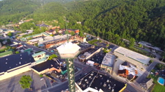 Aerial Gatlinburg Tennessee low flyover 6 Stock Footage