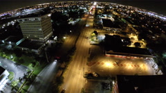 Drone aerial Hallandale city night Stock Footage