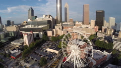 Stock Video Footage of Aerial video Downtown Atlanta Georgia 2