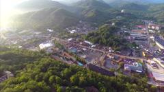 Aerial Gatlinburg Tennessee drone Stock Footage