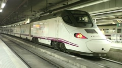 High speed train at the platform Stock Footage