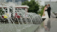 Jet fountain Stock Footage