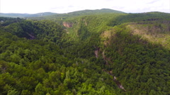 Aerial video Smokey Mountains - stock footage