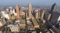 Aerial drone video Downtown Atlanta Georgia Stock Footage