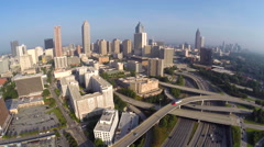 Downtown Atlanta cityscape 2 Stock Footage
