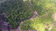 Aerial Smokey Mountains Stock Footage