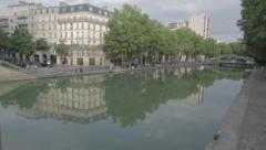 Canal Saint-Martin Stock Footage