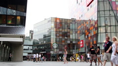 Beijing Sanlitun business and fashion street - stock footage