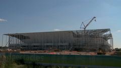 Building works of New UEFA euro 2016 Stadium in Timelapse. - stock footage