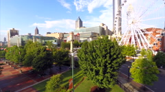 Downtown Atlanta Georgia skyview ferris wheel - stock footage