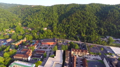 Gatlinburg Tennessee aerial drone video Stock Footage
