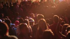 HD1080p - Large group of young adults dancing at concert Stock Footage