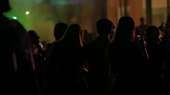 HD1080p - Club Scene at night, dancing youth Stock Footage