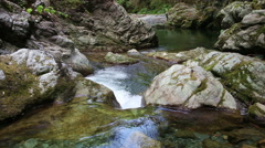 Stock Video Footage of Mountain Brook with Cold Water