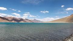 Pangong Lake In Ladakh Stock Footage