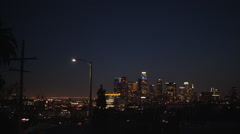 Downtown Los Angeles Skyline Stock Footage
