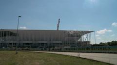 Building works of New UEFA euro 2016 Stadium in Timelapse 3 - stock footage