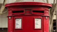 Red London Letterbox Stock Footage
