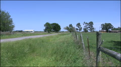 Louisiana fence and road Stock Footage
