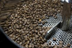 Coffee bean roasting Stock Photos