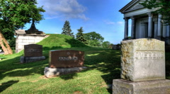4K UltraHD Motion Controlled timelapse view in a cemetary - stock footage