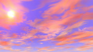 Stock Video Footage of Sky Animation 4k orange clouds movement