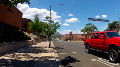 Traffic On East Gurley Street Wide- Prescott Arizona Stock Footage