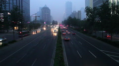 Stock Video Footage of Beijing 3rd rind road at night HD.