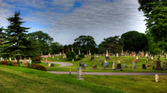 4K UltraHD Wide Timelapse view in a cemetary - stock footage