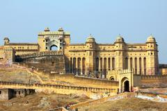 amber fort in jaipur india - stock photo