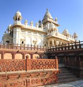 jaswant thada mausoleum in india - stock photo