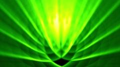 Sedate abstract looping background rays elegant shimmering green alt reverse Stock Footage