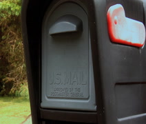 Removing mail in mailbox Stock Footage