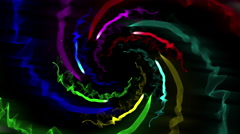 Motley abstract swirl on black 4K Stock Footage