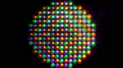 Led lights front color play loopable Stock Footage