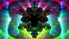 Motley abstract pattern on black 4K Stock Footage