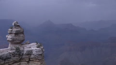 Grand Canyon Monsoon Landscape Stock Footage