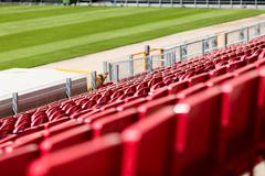 seats at stadium - stock photo