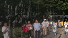Korean War Memorial in DC Stock Footage