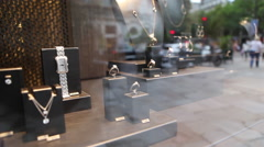 Expensive jewellery - shopping in Paris Stock Footage