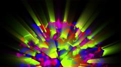 Colorful animated hemisphere 4K Stock Footage