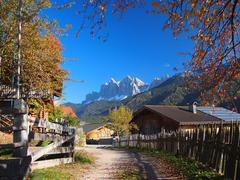 autumn in south tyrol - stock photo