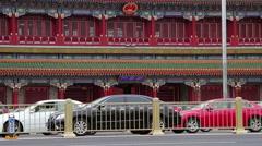 Xinhuamen in Changan' street at daytime, HD - stock footage