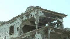 Mogadishu Somalia, War-torn buildings Stock Footage