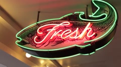 "Seattle - Pike Place - ""Fresh"" sign - stock footage"