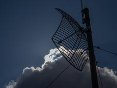 antenna and blue sky - stock photo