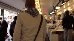 Seattle - Pike place market fish Stock Footage