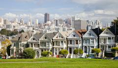 san francisco, usa - painted ladies in san francisco - stock photo
