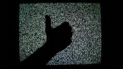 Thumb up and thumb down for like and dislike Stock Footage